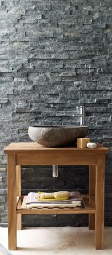 Black Quartz Sparkle Maxi Split Face Mosaic Stone Z Tile